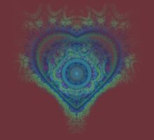 Raw fractal 19 heart by Manafold Art