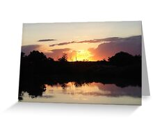 """""""Oster Sunset"""" by Carter L. Shepard Greeting Card"""