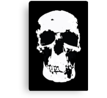 Sherlock Skull Wall Hanging On Black Canvas Print