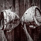 Two Old Headlights by onyonet photo studios