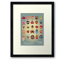 The Muppets A(nimal) to Z(oot) by Marcus Marritt Framed Print