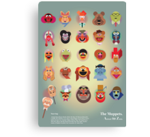 The Muppets A(nimal) to Z(oot) by Marcus Marritt Canvas Print