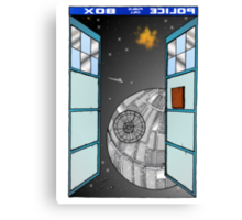 The Doctor meets the Death Star Canvas Print