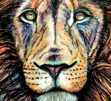 Rainbow Lion Sticker