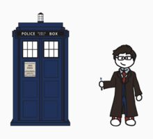 Dr Who (10) car sticker family (also shirts) by Paige Thulin