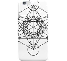 Metatron's Cube Star Clucter - Sacred Geometry iPhone Case/Skin