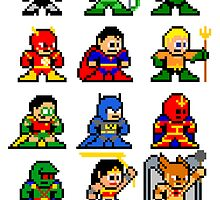 8-bit Justice League by groundhog7s