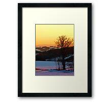 Colorful winter wonderland sundown V | landscape photography Framed Print