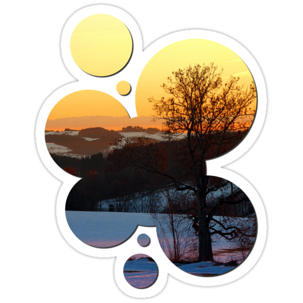 Colorful winter wonderland sundown V | landscape photography by Patrick Jobst