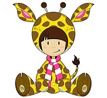 Cute Cartoon Giraffe Girl by MurphyCreative