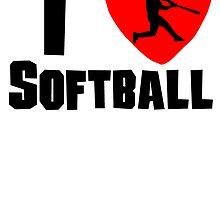 I Heart Softball by kwg2200