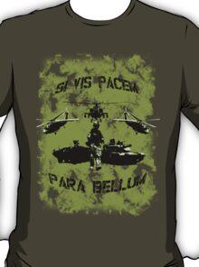 Si vis pacem para bellum USA oliv w. black font T-Shirt