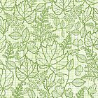 Green lace leaves pattern by oksancia