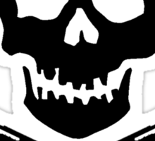 Doctor Who Skull and Crossbones Sticker