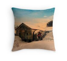 """ Golden Sitting "" Throw Pillow"