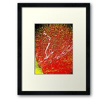 Making A Splash One- Unique Abstract Art Framed Print