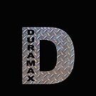 Duramax D diamond plate on BLACK base by thatstickerguy
