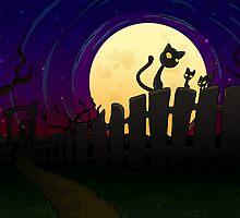 Halloween Fence by thedustyphoenix