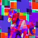 Cool Horse Vector Colors And Shapes T-Shirt Prints and Stickers by Denis Marsili