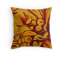 Imagination in Hot, Vivid Yellows Throw Pillow