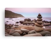 Zen Stones at Twilight Canvas Print