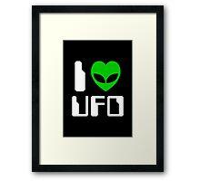 I Alien Heart UFO Framed Print