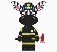 Cute Zebra Fireman Kids Clothes