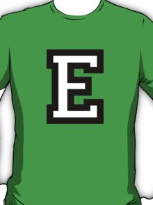 Letter E two-color T-Shirt
