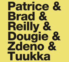 Boston Bruins 2nd Line + Goalie - Helvetica - Black Text by msquared64