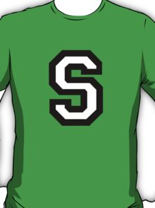 Letter S two-color T-Shirt
