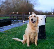 Megan at Clomoney lock, River Barrow, County Carlow, Ireland by Andrew Jones