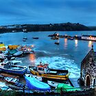 Tenby Harbour High Tide by Simon West