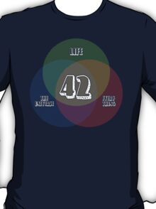 NEW Venn Diagram: Life, the Universe & Everything (for dark shirts) T-Shirt
