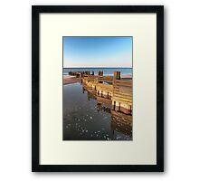 Norfolk groyne Framed Print