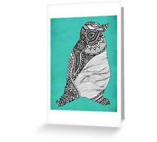 Tribal Penguin Greeting Card
