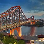 Brisbane Story Bridge at dusk by Danny  Waters