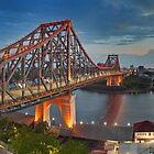 Brisbane Story Bridge at dusk by Danny  Waters