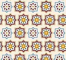 Seamless Colourful Ornament Tiles by Ana Marques