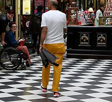 Yellow pants are in fashion by Maggie Hegarty