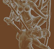 Lord Shiva killing the demon Andhakasura by ImaginePx