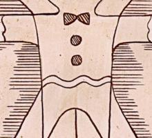 Vitruvian Gingerbread Man Sticker