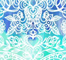 Indigo & Aqua Abstract Sticker