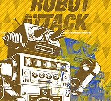 Robot Attack by SLAVER Clothing