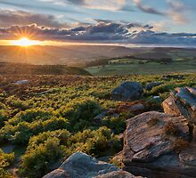 Surprise Sunset Derbyshire by Roy Childs
