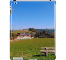 Bench with beautiful panorama | landscape photography iPad Case/Skin