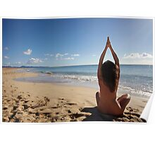 Yoga on the beach Poster