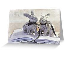 Reading Rabbits Greeting Card