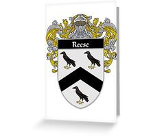 Reese Coat of Arms / Reese Family Crest Greeting Card