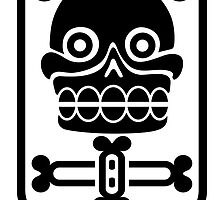 Aztec stamp with skull by siloto
