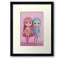 The pastel girls Framed Print